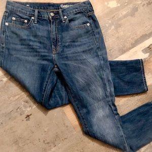 Gap skinny jeans - sluchy in medium indigo 25r